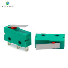 2 шт. KW4-3Z-3 концевой переключатель для 3d принтера 3 Pin N/O N/C микро концевой переключатель Аксессуары для 3d принтера зеленый концевой выключатель