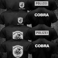 EKO COBRA Austria Police Counter Terrorism Special Unit Forces T Shirt Men Two Sides Casual Tee