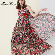 Женское платье накидка с леопардовым принтом moaayina летнее