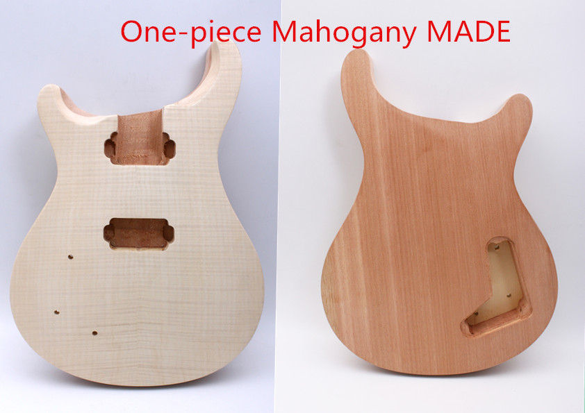 Unfinished Electric guitar body Mahogany One-piece wood Made TOP Bolt On Yinfente diy electric guitar kit bolt on neck solid mahogany body monkey grip