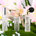 3PCS/lot 15ML Women Perfume Bottle Clear Rectangle Car Hanging Refillable Air Freshener Empty Atomizer Ball Cosmetic Containers