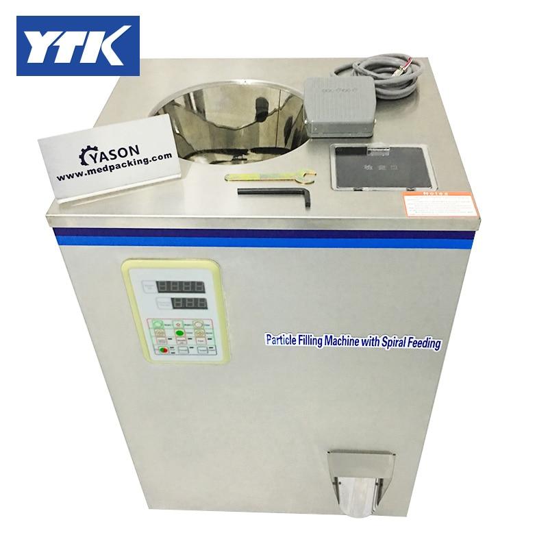 YTK 2-100g Tea Or Herb Filling Machine With Spiral Feeding Grind