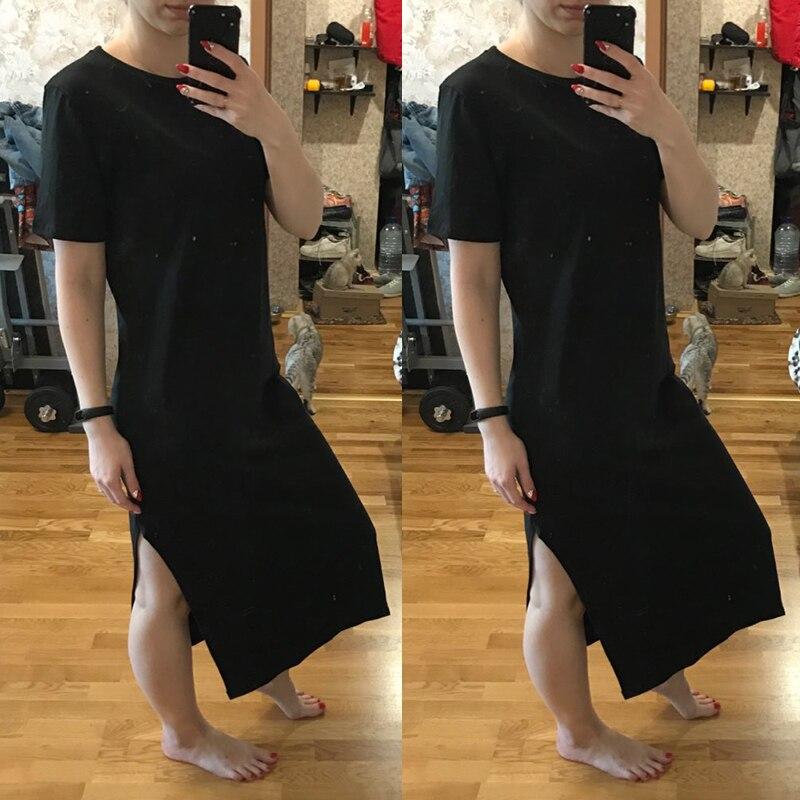 a2dcbfd376013 Maxi Dress Summer Pocket T Shirt Dress Vestidos Women Dress Short ...