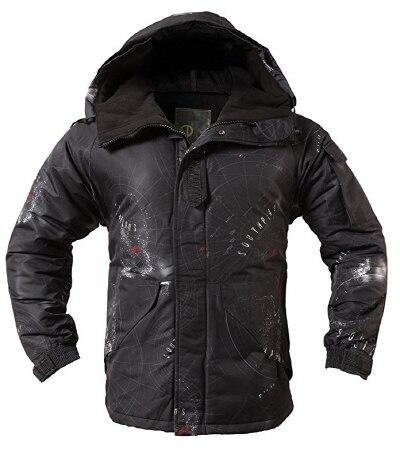 """Премиум """"SouthPlay"""" Зимний Сезон Водонепроницаемый 10000 мм согревающие лыжные и сноубордические коричневые Camoflage куртки - Цвет: South Black Jacket"""
