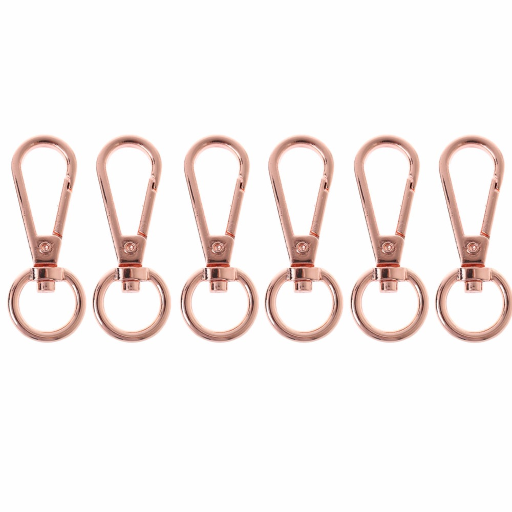 THINKTHENDO 6Pcs 48x1.6x1cm Swivel Clasp Spring Snap Hook Key Ring Chain Bag Hardware Accessories  7 ColorTHINKTHENDO 6Pcs 48x1.6x1cm Swivel Clasp Spring Snap Hook Key Ring Chain Bag Hardware Accessories  7 Color
