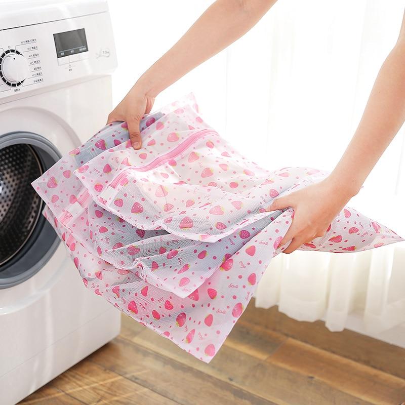 Nylon Mesh Laundry Bags Zipped Clothing Washing Case Traveling Storage Pouch Clothing Underwear Laundry Bag For Washing Machine