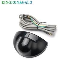 Détecteur de mouvement micro ondes pour porte automatique, couleur noir et argent, capteur pour porte coulissante, ouverture automatique