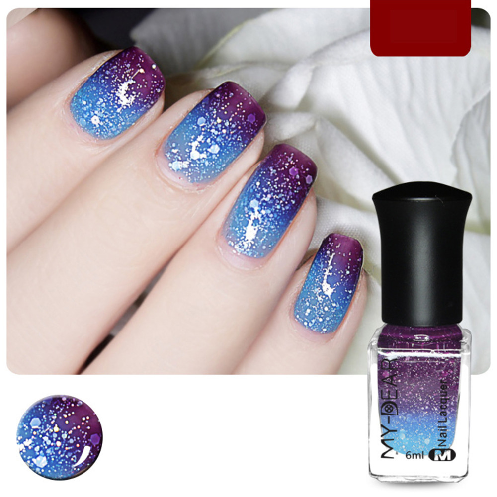Nail Art Beauty Supply Magic Color Change Polish Party Necessary Peel Off Red Blue Pruple Green 27 Colors 6ml 1PC In From