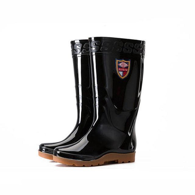 38cm Knee Height Fishing Waders PVC Waterproof Rainproof Hunting Fishing Shoes Molded Waterproof Tall Tube Fishing Waders Boots