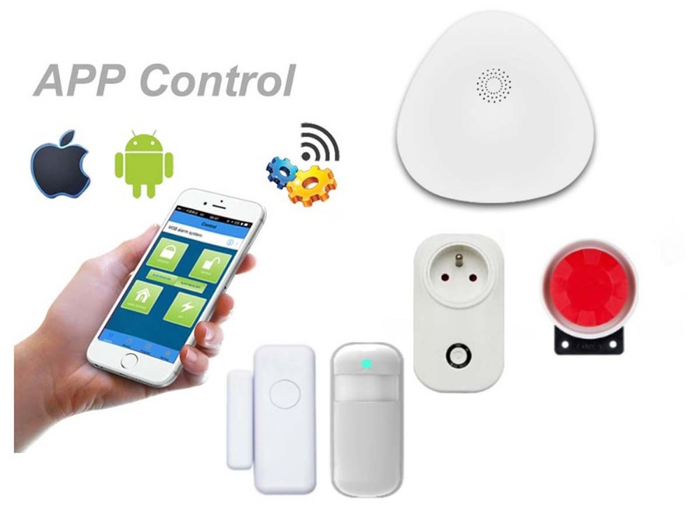 Yobang Security Home Security System WiFi Alarm System Kits For Home Business With Alarm Host Outdoor 120db Siren Motion Sensor