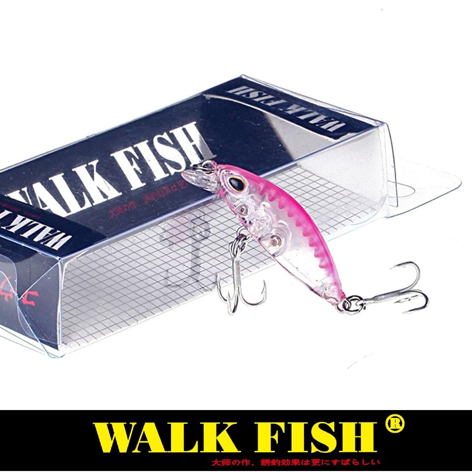 Walk Fish 1Pcs Floating Fishing Crank Bait Lure 4cm 2g Topwater Artificial Hooks Crankbait Tackle