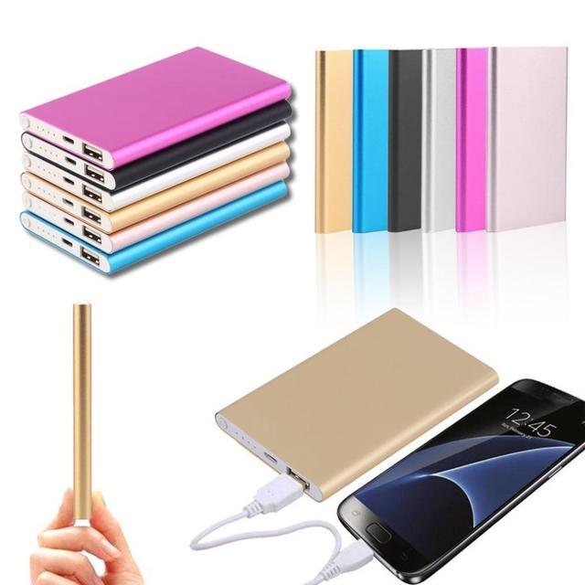 Тонкий 12000 mAh Мощность банк Батарея поставить мобильный телефон Мощность для телефона Батарея пакет супер Внешнее зарядное устройство для iphone5 6 7 8