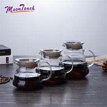 300/500/700ml Glass Coffee Teapot Share Pot Clouds Heat Resistant Barista Cloud Lovely Tea Accessories