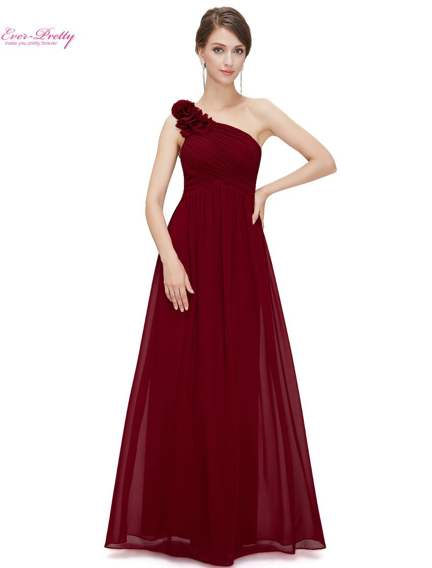 Bridesmaid Dresses Ever Pretty EP08237 One Shoulder Floral Padded ...