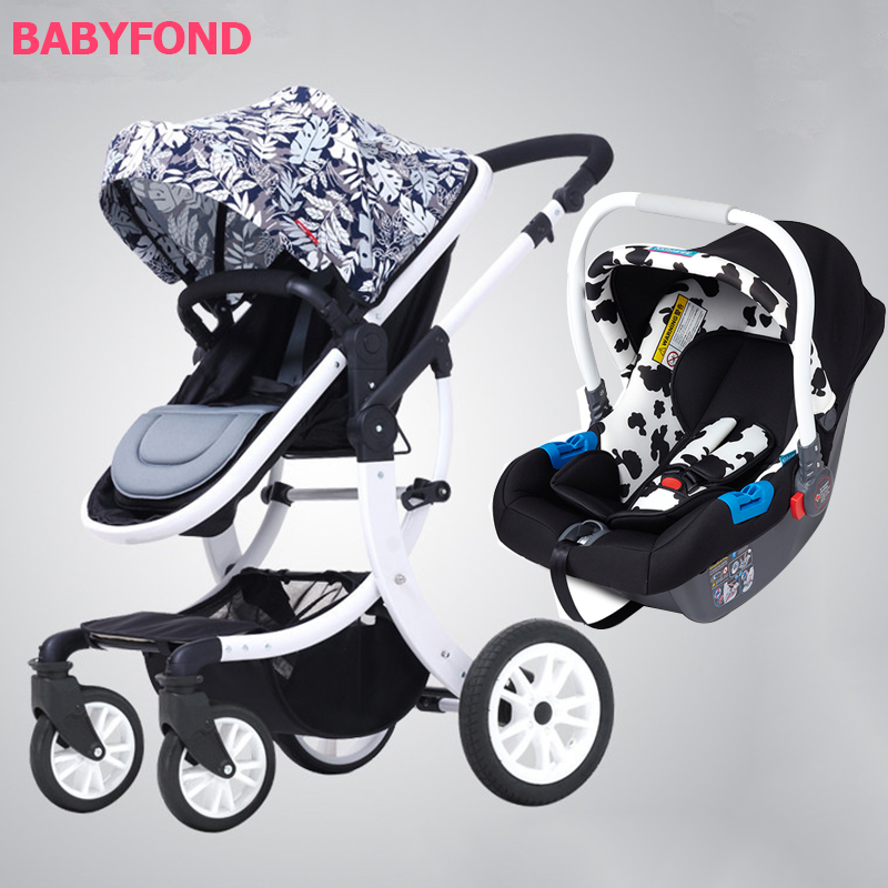 Aimile baby stroller 3 in 1 with teh car set suit for 0-3 years old baby lacywear u 19 teh