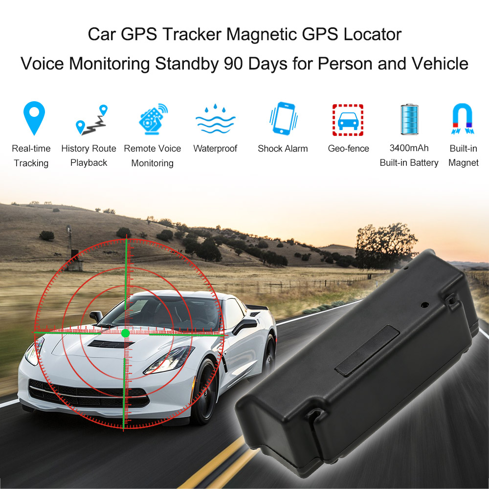 kkmoon car magnet gps tracker waterproof portable car. Black Bedroom Furniture Sets. Home Design Ideas