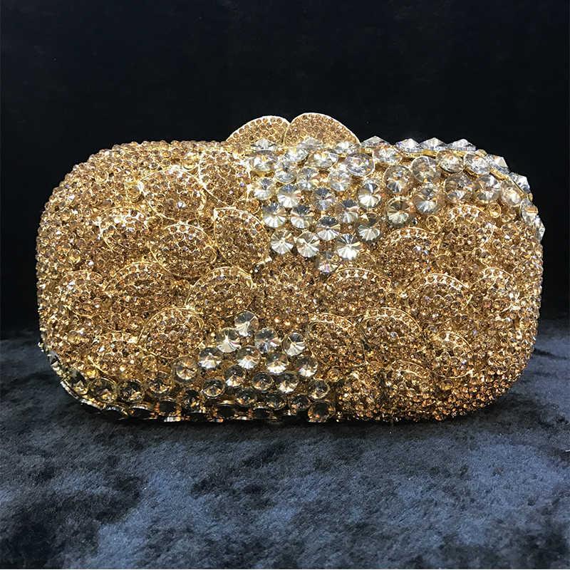 Европейская и американская новая золотая вечерняя сумочка с бриллиантами женские клатчи женские вечерние роскошная сумка клатч женская вечерняя сумка s