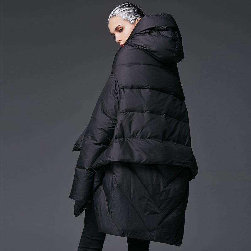0db52ed0c3 US $41.04 62% OFF|YVYVLOLO Women's Winter Jacket 2019 New Temperament  Fashion Cloak Loose parka women down winter coat Warm Jacket Female  Overcoat-in ...