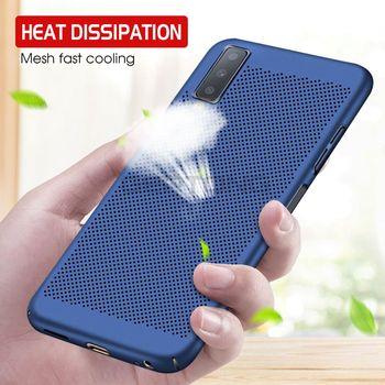 Ultra delgado caso de teléfono para Samsung Galaxy A6 A7 A8 A8 Plus 2018 Note8 9 S9 S8 S10 Lite hueco cubierta trasera de PC dura de disipación de calor