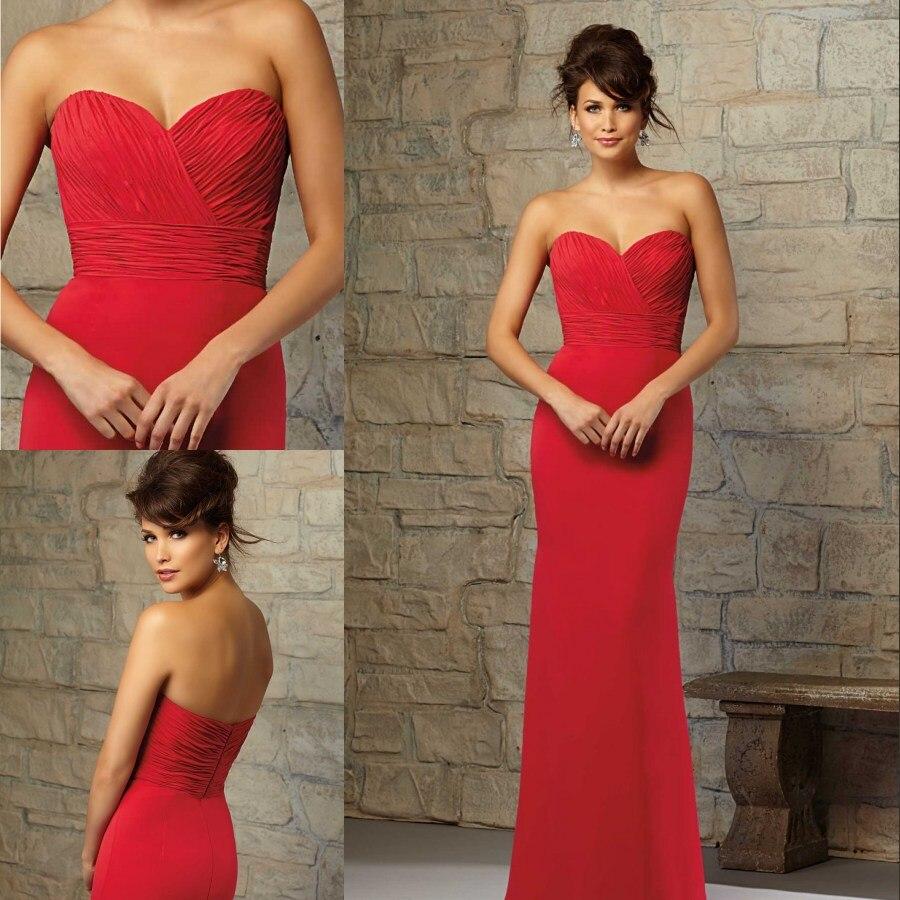 82 1 2015 Robe De Demoiselle D Honneur A Long Rouge D Ete Robes Invites Au Mariage Cherie Robes De Soiree Elegante Dans Robes De Demoiselle
