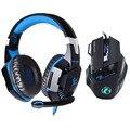 Each g2000 luces deslumbran hifi pro gaming headset juego de auriculares + 7 botón 5500 dpi profesional pro gamer ratón de juego los ratones de juego
