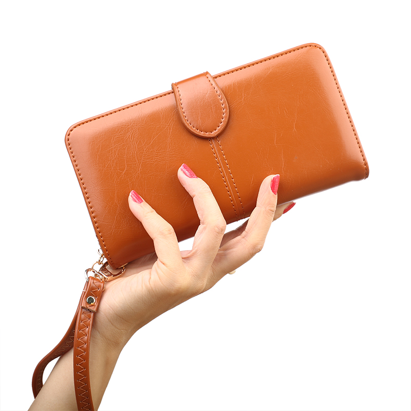 PU Leather Wallet Women Luxury Brand Fashion Lady Party Coin Purse Wallet Female Oil Skin Zipper Women Wallets 2017 Card Holder bemoreal genuine leather women wallets lady clutches card holder female zipper wallet fashion brand coin keeper sweet long purse