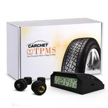 CARCHET TPMS Tyre Pressure Monitoring Intelligent System + 4 External Sensors Solar Energy Tire Pressure Alarm