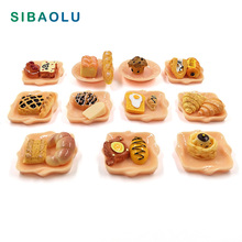 10pcs Simulation Food cake Bread Artificial Miniature Figurine DIY House Accessories Doll home Decoration plastic resin craft