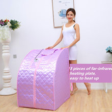 Portable Far Infrared Sauna Spa Weight Loss Negative Ion Detox Therapy  Personal Room Folding Chair For Cabin