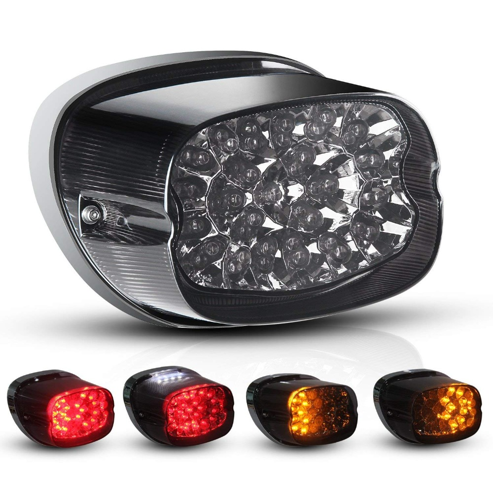 Motorcycle LED Turn Signal Tail Light For  FLSTFB Fatboy Heritage Sportster 883 1200 Dyna Road King Electra Glide