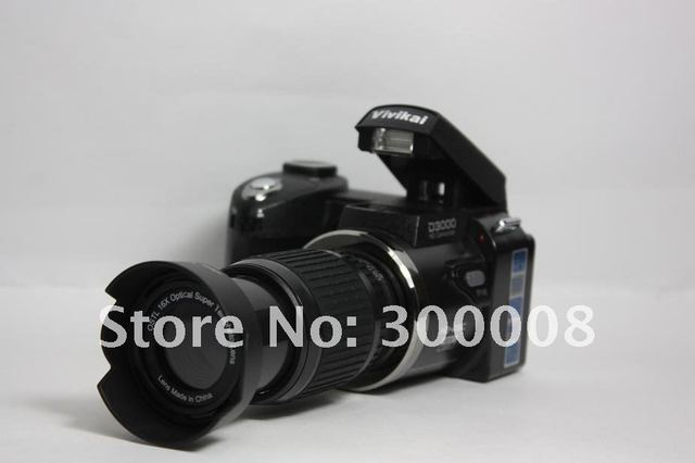 Free Shipping Wholesale slr Camera+ with Wide angle+standard,+long distance lense+16mp+3.0 TFT display=excellent