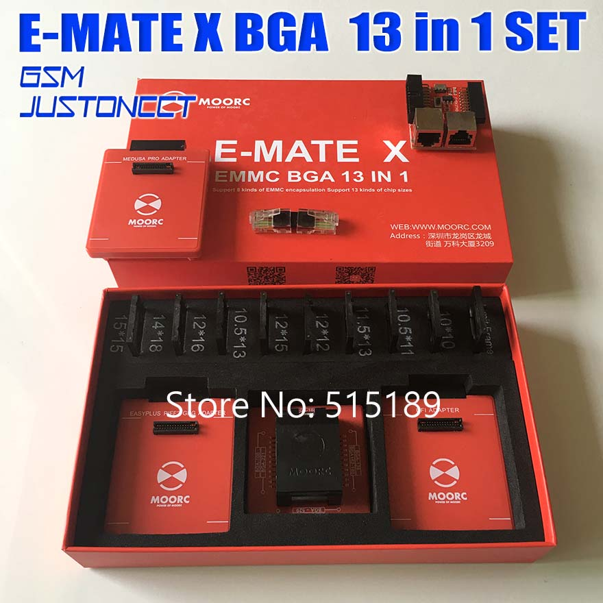 E-MATE X 13 in 1 Emate pro box V3 Version E-<font><b>Socket</b></font> 13 in 1 No welding <font><b>BGA169E</b></font> BGA162 BGA221 for EASY JTAG riff medusa ufi box image
