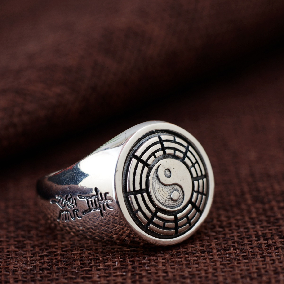 2018 New Arrival Wholesale Jewelry Line Thai Silver Ring S925 Pure Silver Antique Style Men Gossip Rotating Ring s925 silver antique style men open world peace ring