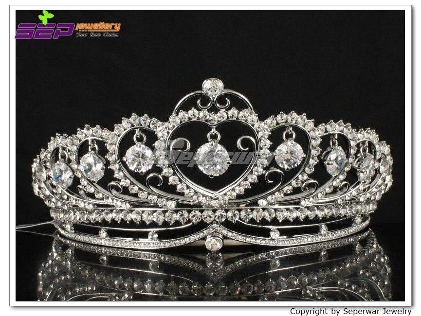 Cristaux clairs accessoires de cheveux de mariage mariée couronne accessoires de robe de mariée SHA8443