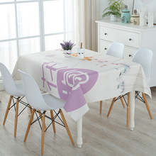 SKTEZO 2019 New Cotton and Linen Waterproof Table Cloth Small Fresh Coffee Tablecloth Cover Towel kitchen table