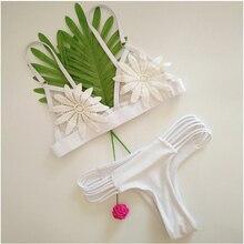 2018 New Lace Thong Bikini Set Women Swimsuit Multi Rope Bathing Suit S-XL White Low Waist Swimwear Girl Sexy Brazilian Tankini