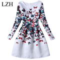 LZH Flower Girls Dress For Weddings Party 2017 Butterfly Print Girl Princess Dress Costume For Kids 7 8 9 11 10 12 Year Clothes
