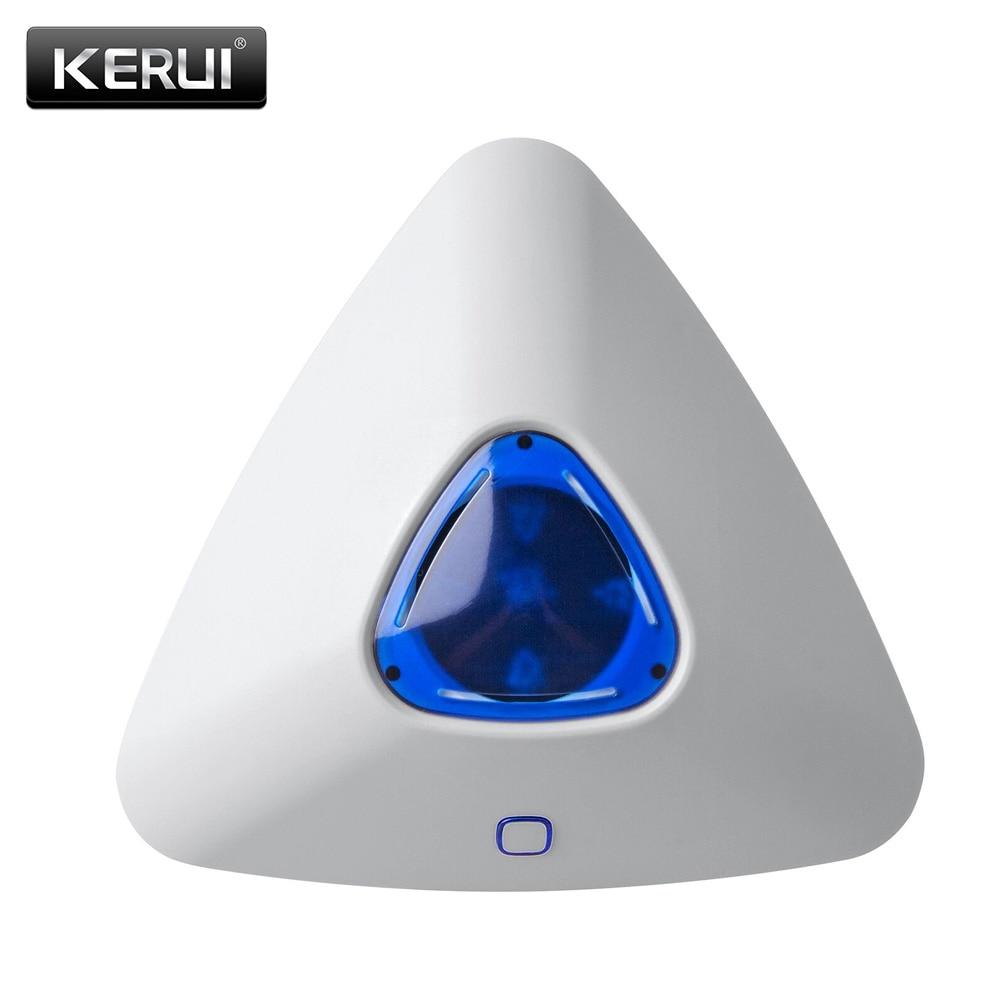 KERUI  Wireless Alarm Flash Sound Light Siren Sensor For G90B Plus G90B 3G S5 S1 Home Security  Outdoor Siren
