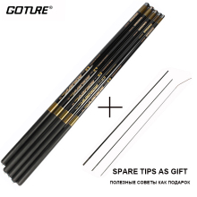 Goture Carbon Fiber Telescopic Fishing Rods 3.6M-7.2M Ultra-light Stream Carp Fishing Hand Pole Accessories