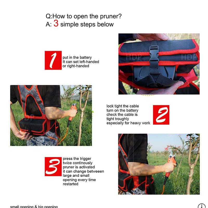 Forfecare electrică pentru pruner (certificat CE baterie de litiu de - Unelte de gradina - Fotografie 3