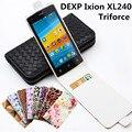 Роскошный Классический Красочные Кожа Case Для DEXP Ixion XL240 Triforce Откидная Крышка Корпуса С Карт памяти Телефон Случаях