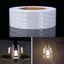 50mm X50m Colorful Reflective Safety Warning Conspicuity Tape Film Sticker for car цена 2017
