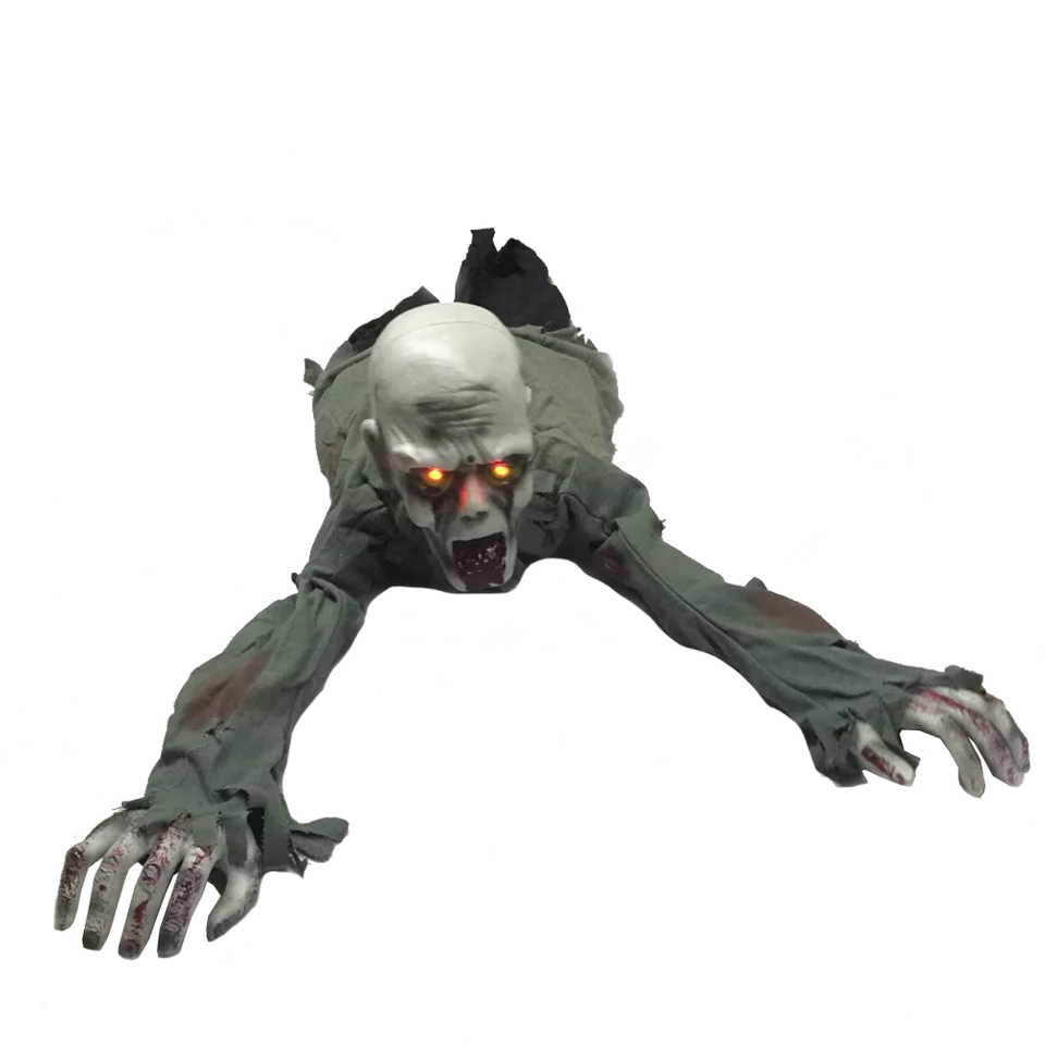 US $36 99 Animated Crawling Zombie 12in x 43in Red Eyes Scary Sound and Moving for Halloween Decorations sound eye zombie animationzombie eye