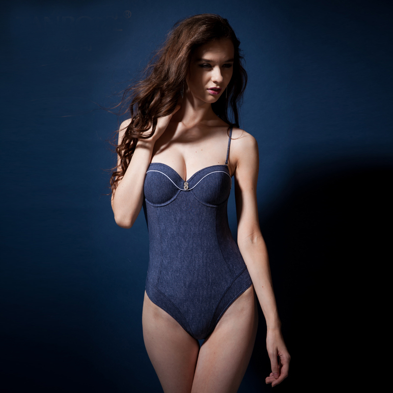 a7e2aebcbf TANBOGE One Piece Swimsuit Bathing Suits Swimwear Conservative Soft Denim  Swimsuits Monokini Women s Swimming Suits Bathing Suit on Aliexpress.com