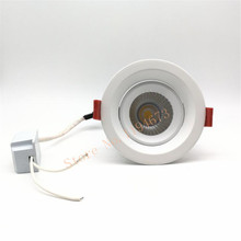 AC85-265v 12W Dimmable COB LED Ceiling lamp recessed down light Downlights Free shipping