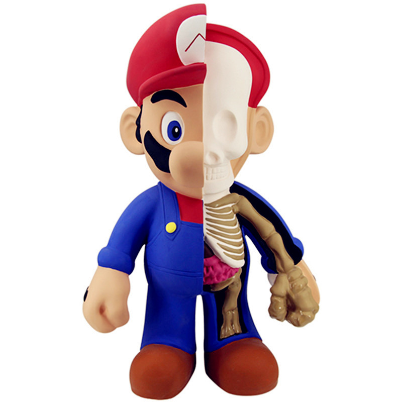 40 Inches Street Art Medicom Toy Dissection Super Mario Cosplay KAWS PVC Action Figure Collection Model Toy G1203 2 colour outer space trophy electroplating kaws bape milo kabinett ver medicom toy pvc action figure collection model toy g690