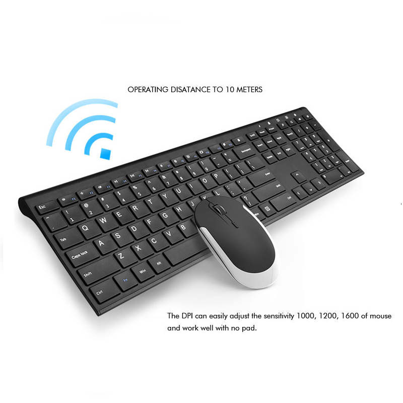 Ultra Thin Metal Wireless Slim keyboard and mouse combo 2
