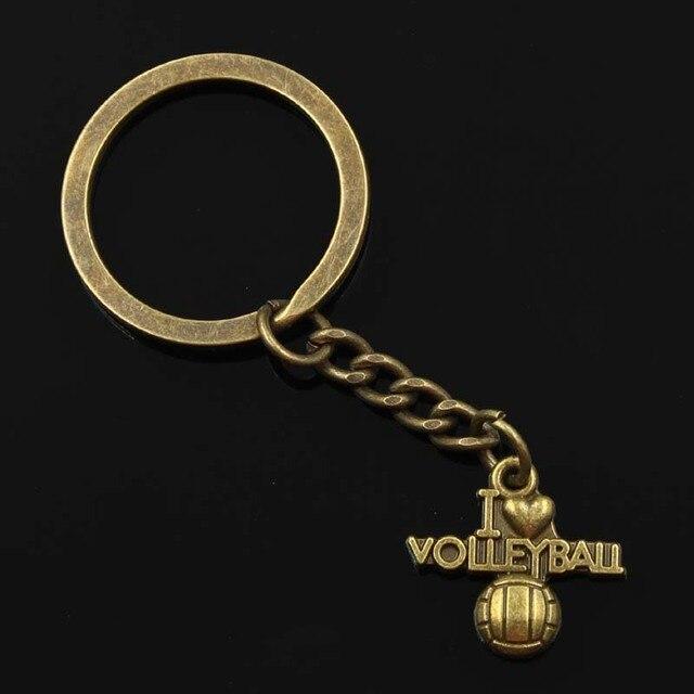 Nuevo llavero de 30mm de moda para hombres, cadena de soporte de metal para bricolaje, colgante de bronce de 21x20mm regalo