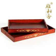Zhai Gallery mahogany crafts rosewood wood tableware quality wooden pallets wooden plate large fruit tray