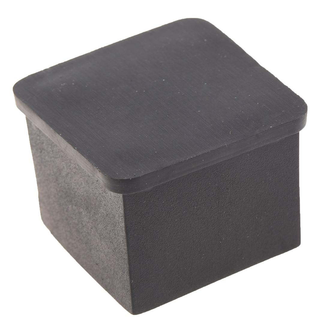 Hot Sale 15Pcs Black Rubber 30mmx30mm Square Chair Foot Cover Chair Leg Caps